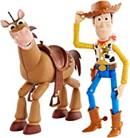 Toy Story Disney Pixar 4 Woody and Buzz Lightyear 2-Character Pack, Movie-Inspired Relative-Scale for Storytel