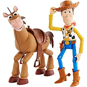 Disney and Pixar's Toy Story 4 Woody and Buzz Lightyear 2-Character Pack, Movie-inspired Relative-Scale for Storytelling…
