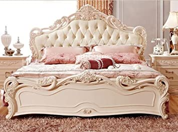 modern furniture european style furniture hand carved wood beds bed frames king size 18m king - European Bed Frame