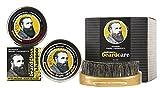 Professor Fuzzworthy BIG Beard Kit for Men Gift Pack | 100% Natural Original Beard SHAMPOO BAR Beard Gloss & Beard Conditioner | Bass Beard Brush Boar Bristle | Organic Australian Essential Plant Oils