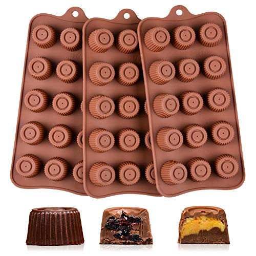 Chocolate Molds Silicone Candy Molds - Silicone Molds BPA Free Pinch Test Approved Food Grade Silicone Pack of - Plate Melting Candy