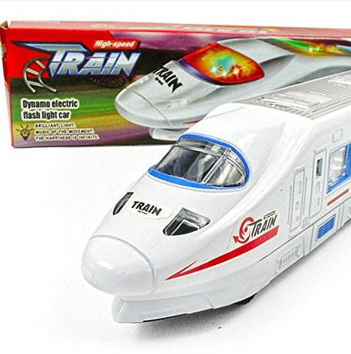 - MAGIKON Electric Bump and Go Train Toy with Twinkling Lights and Music , Running High-Speed Train Model Toy