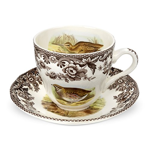 Spode Woodland Quail, Pheasant, Snipe and Rabbit Tea Cup and Saucer ()