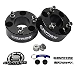 """Supreme Suspensions - F150 Lift Kit 3.5"""" Front Suspension Lift CNC Machined T6 Aircraft Billet Strut Spacers (Black) Easy Install Ford F150 Leveling Kit PRO"""
