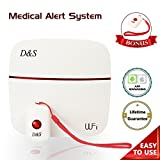 Medical Alert System with 2 Life-Saving SOS Buttons With A Neck Cord By D&S Group - No Monthly Fee.