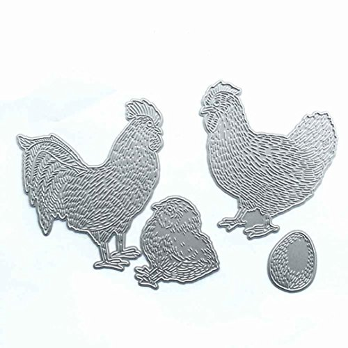 CMrtew New Cutting Dies Stencil Frame Metal Template DIY Paper Card Gift (G:Chicken)