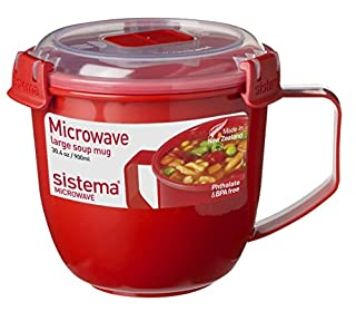 Sistema Microwave Collection Soup Mug 31.7oz, Red 1109ZS, 4 Cup (B01DUBKA2S) | Amazon price tracker / tracking, Amazon price history charts, Amazon price watches, Amazon price drop alerts