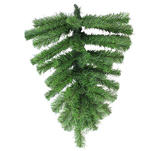 Northlight Colorado Spruce Artificial Christmas Teardrop Swag, Green ()