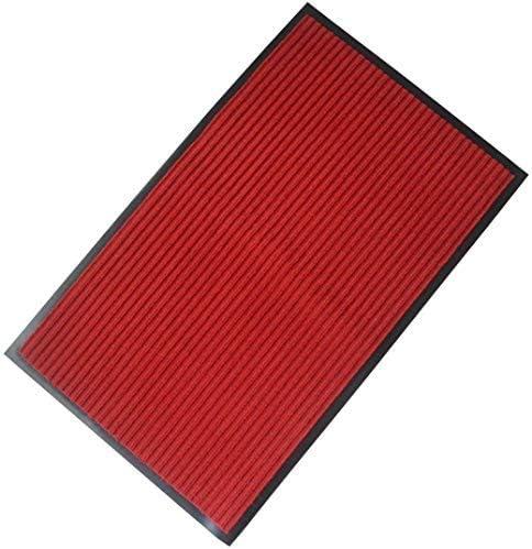 FINDNEW 23 X 35 Red Doormat with Rubber Back Durable Non Slip Entrance Rug Shoes Scraper Carpet Indoor Outdoor Floor Mats,Waterproof, Easy Clean,Patio,Front Door,High Traffic Areas