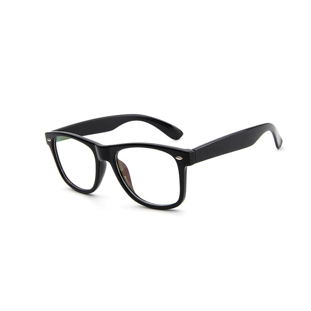 663ca0390baca Forepin Monturas de gafas Retro Hombre y Mujeres reg  Unisex Gafas de Vista  Lente Brillante Negro  Amazon.es  Ropa y accesorios