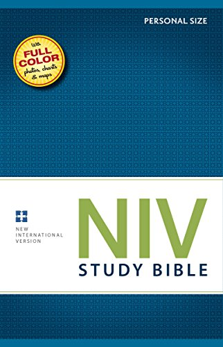 NIV Study Bible, Personal Size, Hardcover, Red Letter - Ocean Mall Count