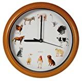 Farm Animal Wall Clock with Animal Sounds on the Hour - Great Novelty Fun Gift by L-FENG-UK