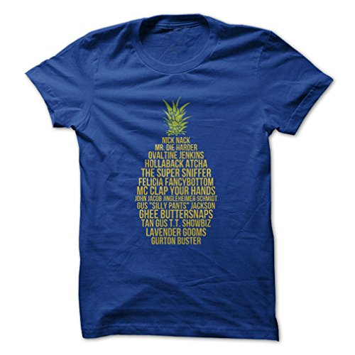 The Many Names of Gus-T-Shirt/Royal Blue/2XL - Made On Demand in USA (Ink Blue Multi)