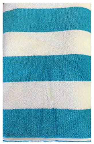 Charisma Resort Towel 100% Pima Cotton Loops Light Blue Cabana Stripe