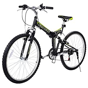 "Gracelove 26"" Folding 6 Speed Mountain Bike Bicycle Shimano Bike Black"