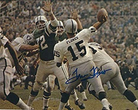 w//COA Autographed Tom Flores Oakland Raiders 8x10 photo