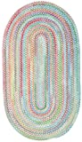 Capel Rugs Baby's Breath 5 x 8 Oval Braided Area Rug (Medium Blue) Review
