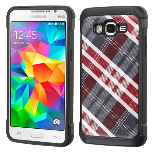Amazon.com: Maroon/Gray Diagonal Plaid/Black Astronoot Phone ...