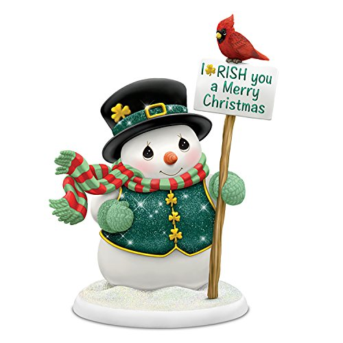 Precious Moments Irish Snowman Christmas Figurine by The Hamilton Collection