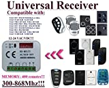 Universal receiver Compatible with FAAC FIX2 / FIX3 / FIX4 / TE4433H (T4LC) / XT2 433 RC / XT4 433 RC / XT4 433 RCBE 433,92Mhz remote controls. 2-ch 12-24 VAC/DC receiver.