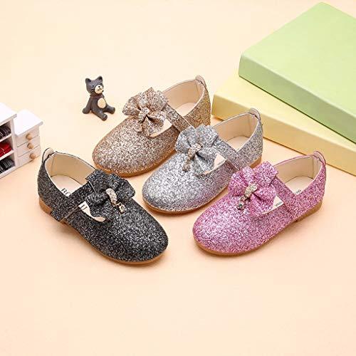 Mysky Kids Baby Girls Sweet Crystal Pendant Bowknot Sequins Party Princess Shoes Pink by Mysky (Image #5)