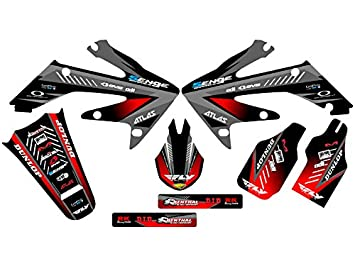 Senge Graphics Kit Compatible with Honda 2004-2012 CRF 50 Surge Black Graphics kit