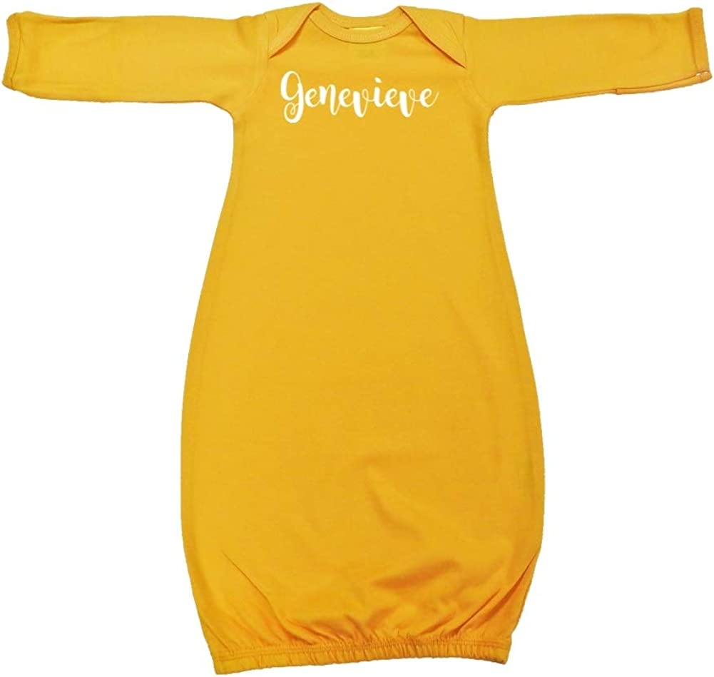 Personalized Name Baby Cotton Sleeper Gown Mashed Clothing Genevieve