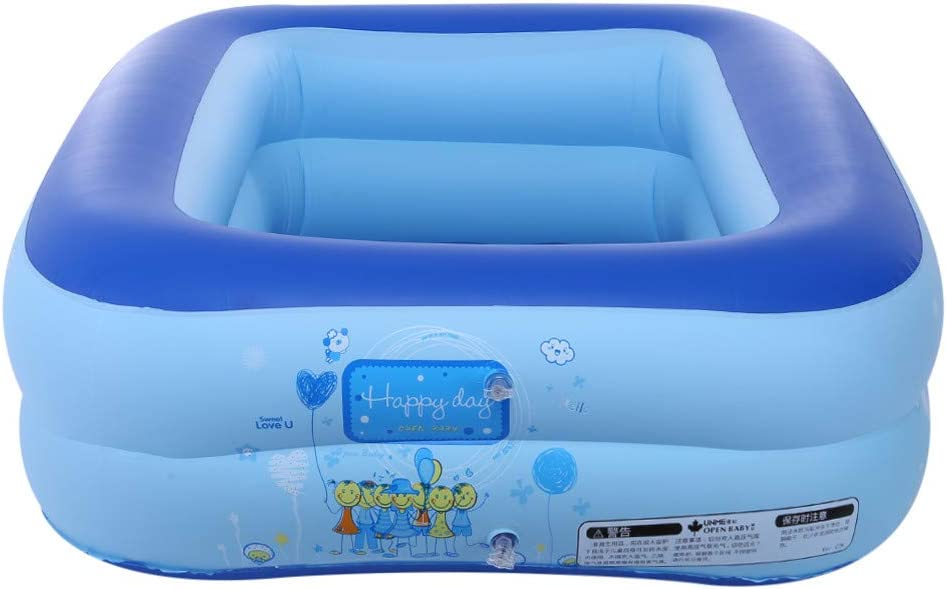 Inflatable Family Swim Play Center Pool 43 inches Blow Up Pool Summer Water Fun with Inflatable Soft Floor for Family Voberry Swimming Pools Blue Garden Backyard Outdoor