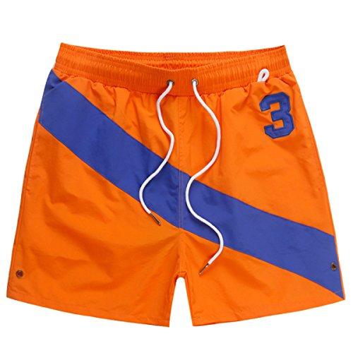 Pantalones Cortos Deportivos De Ocio Para Hombre Orange