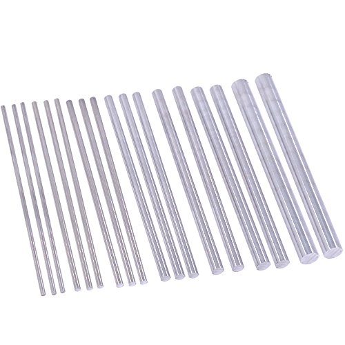 - Swpeet 18Pcs Assorted Sizes Aluminum Round Rod Lathe Bar Stock Kit, Diameter 2mm-8mm Length 100mm, Perfect for Various Shaft, Miniature Axle, Model Plane, Model Ship, Model Cars