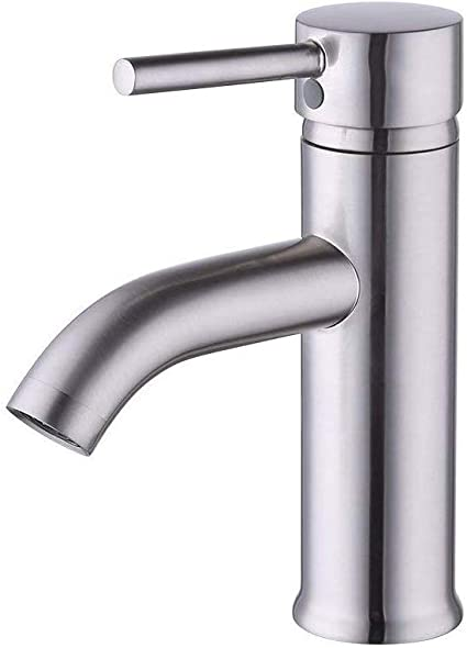 Kes Cupc Nsf Certified Brass Modern Bathroom Sink Faucet Brushed Nickel Single Handle Wash Basin Faucet Lavatory Tap Lead Free Brass L3100alf Bn Touch On Faucets Amazon Canada