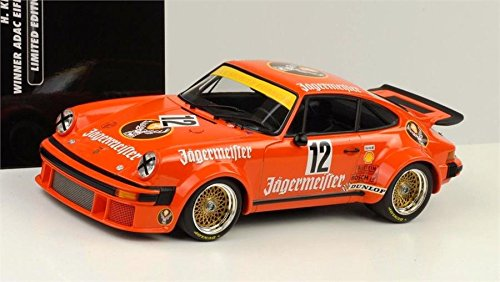 1976 Porsche 934 RSR Jagermeister Diecast Model in 1:18 Scale by Minichamps -