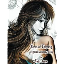 Faces of Fantasy Greyscale Coloring Book