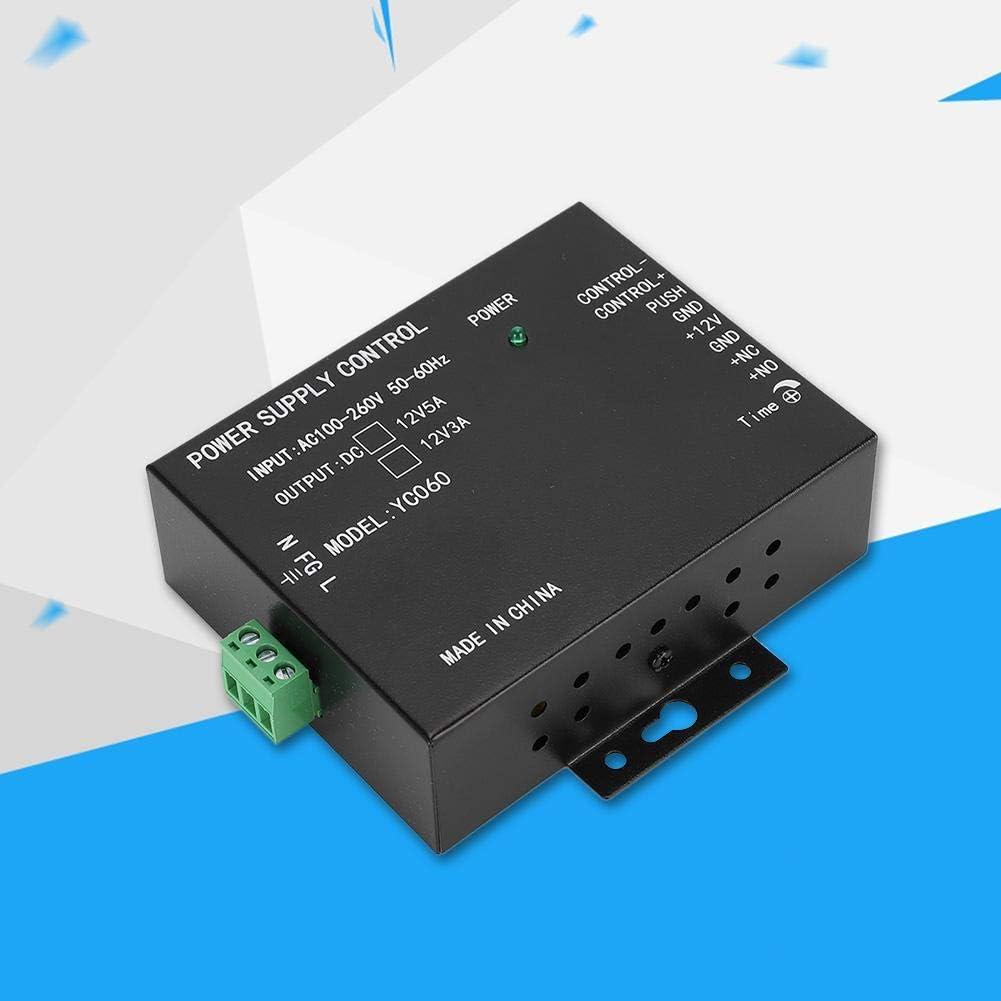 100-260V schwarz 12V 3A Netzteil f/ür die Zugangskontrolle des T/ürzugangsschutzsystems Tangxi Netzteil f/ür die T/ürzugangskontrolle