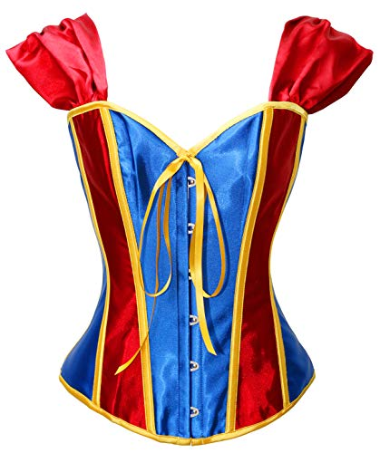 Bslingerie Womens Satin Boned Bridal Bustier Corset (Small, Snow White) -