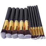Hot 10Pcs Pro Makeup Blush Eyeshadow Blending Set Concealer Cosmetic Make Up Brushes Tool Eyeliner Lip Brushes