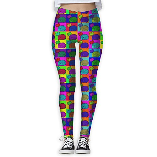 (Watercolor Hedgehog Pop Art Women's Stretchable Sports Running Yoga Workout Leggings Pants XL)