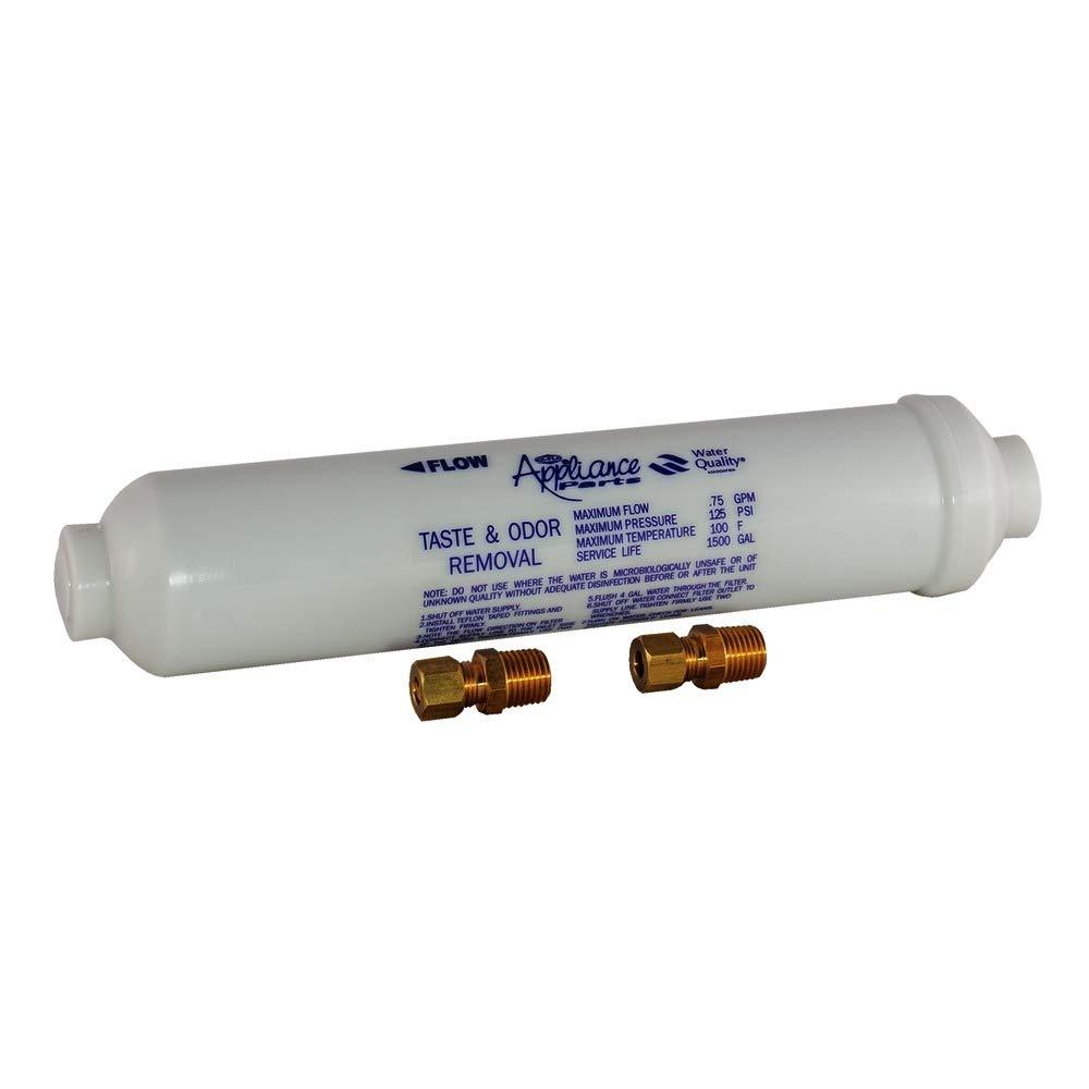 EZ-FLO 60461N In-Line Water Filter for Taste and Odor, 10'' Length, White by EZ-Flo