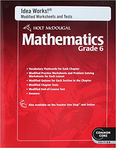 Amazon Holt Mcdougal Mathematics Idea Works Modified