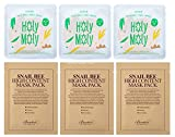 Beauty : Snail Mask : 3 Benton Snail Bee High Content Sheet Mask & 3 COSRX Holy Moly Snail Sheet Masks Pack ( Total 6 Sheet Masks Custom Packed By Beauty Made USA )