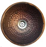 Egypt gift shops 10'' Small Copper Vessel Bathroom Fire Flame Burnt Natural Lavatory Sink Bowl Woman Toilet Hand Wash