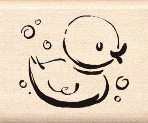Inkadinkado Mounted Rubber Stamp G-Jazzy Style Rubber Ducky 1.25