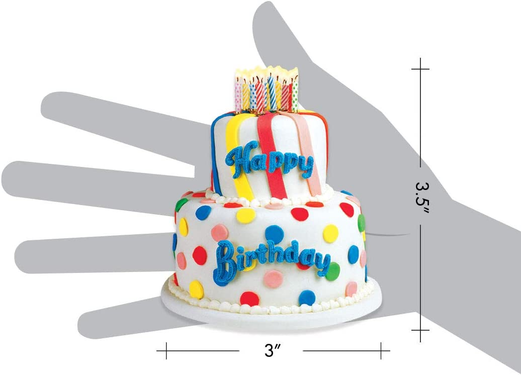 Paper House Productions M-0142E Die Cut Refrigerator Magnet White Birthday Cake 6-Pack