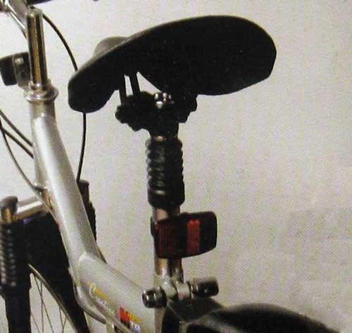 Fahrradsattelstütze Metall, gefedert, Fahrrad Sattel Stange Stütze, universell (LHS)