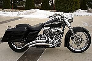 ACCESSORIESHD - FLHT ALL BAGGERS. Big Radius Style STEALTH Exhaust Drag Pipes For Harley BAGGERS 1995-2013