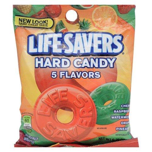 LIFESAVERS HARD CANDY INDIVIDUALLY WRAPPED 5 FLAVORS 6.25 OZ BAG