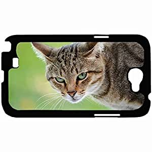New Style Customized Back Cover Case For Samsung Galaxy Note 2 Hardshell Case, Back Cover Design Cat Personalized Unique Case For Samsung Note 2 wangjiang maoyi