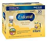Enfamil  Infant Baby Formula - 2 fl oz 20 Calorie Plastic Nursette Bottles, 6 Count (Pack of 8)