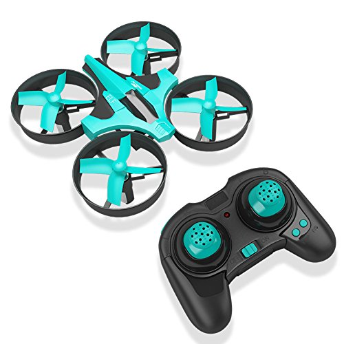 RCtown ELF Mini Drone for Kids, 2.4Ghz 6-Axis Gyro Headless Mode LED Lights Remote Control RC Quadcopter (Light Blue)
