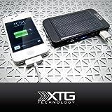 XTG Solar Charger, Solar Powered Back Up Battery